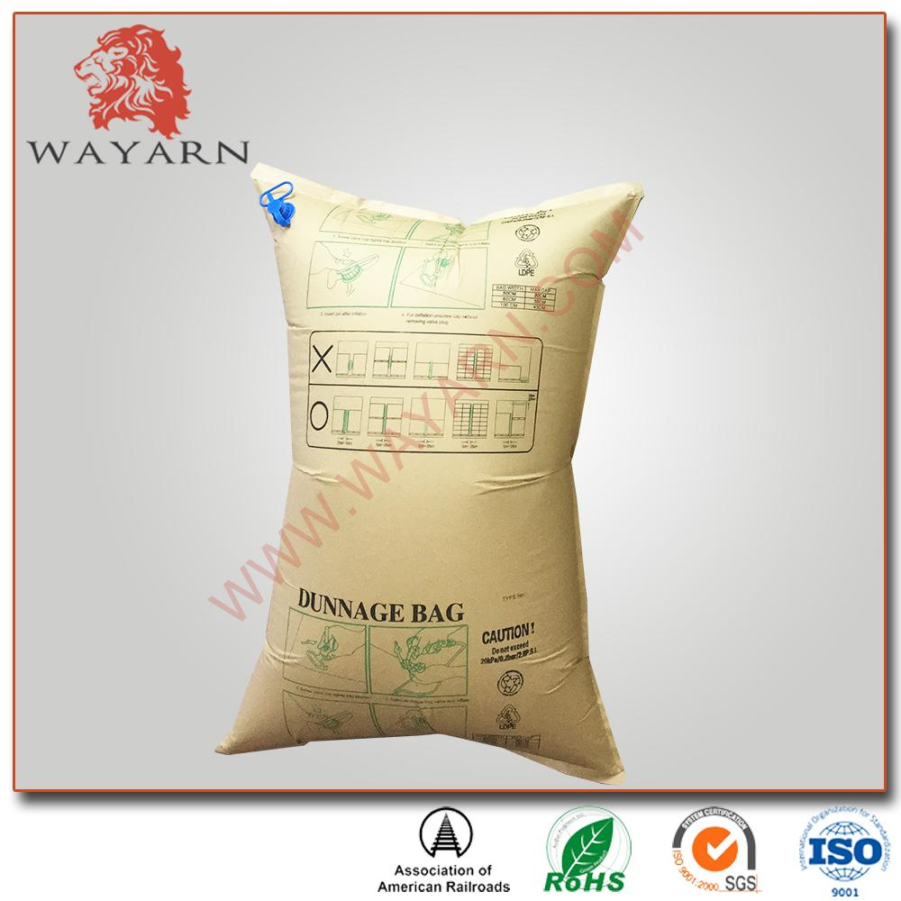 Manufacture Kraft paper inflatable air dunnage bag with SGS certification 2