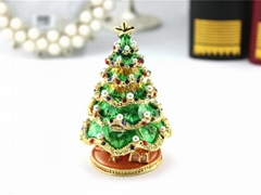 Metal Gifts Enamel Trinket Boxes Christmas Tree Decorative Box Small Jewerly Box (Hot Product - 1*)