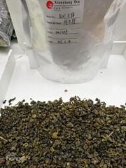 Milky green tea.