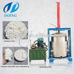 Electric hydraulic press dewatering machine