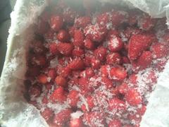 冷冻加糖草莓