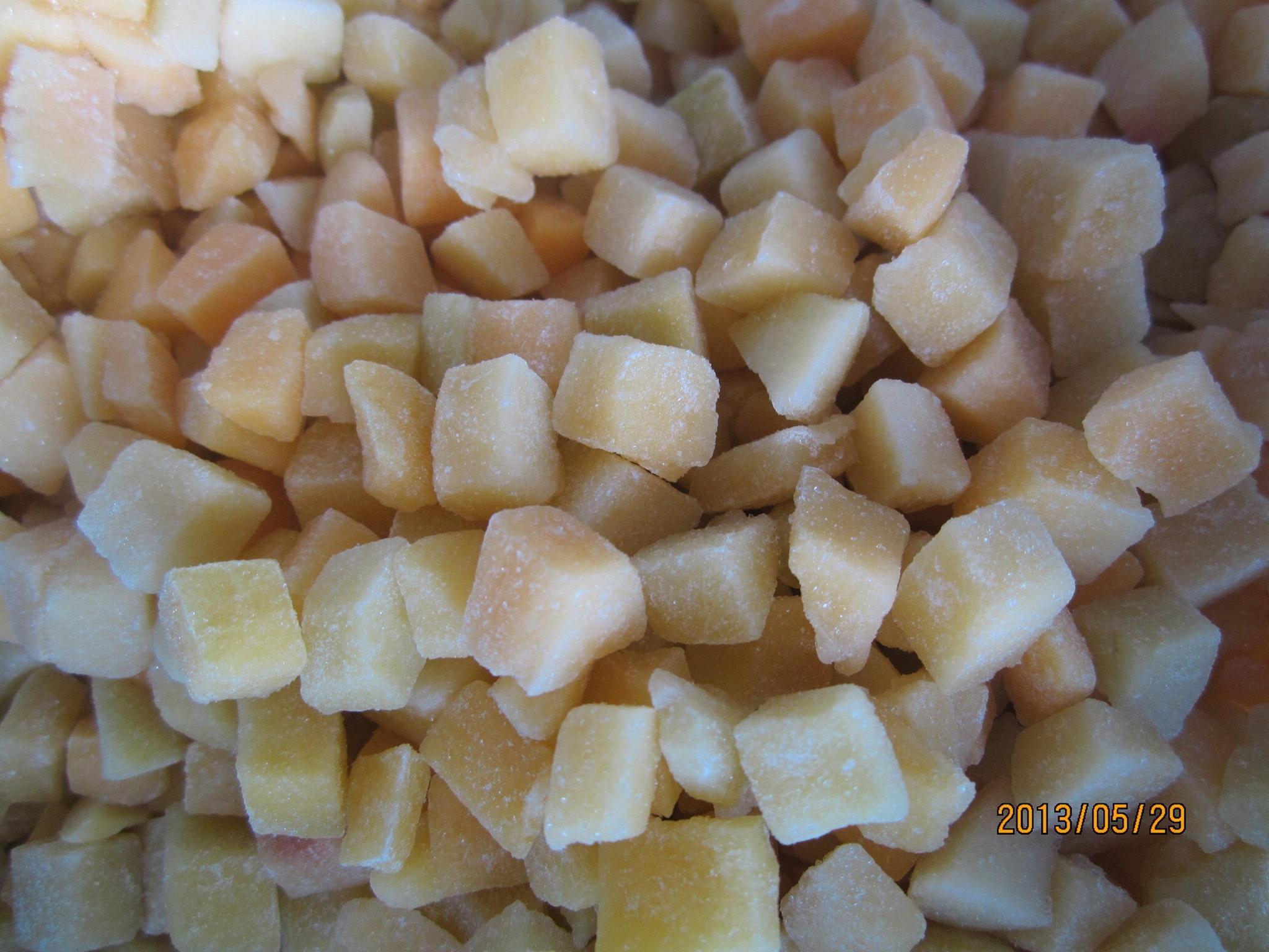 冷凍黃桃丁 4