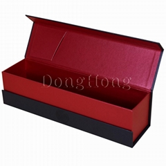Magnetic Flip-top Pearl Paper Wine Boxes