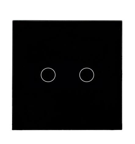 EU/UK Standard Remote Control Switches 2 Gang 1 Way,Crystal Glass Switch Panel,R 1