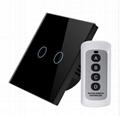 EU Standard Touch Switch Crystal Glass Switch Panel Single FireWire 4
