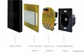 EU Standard Touch Switch Crystal Glass Switch Panel Single FireWire 5