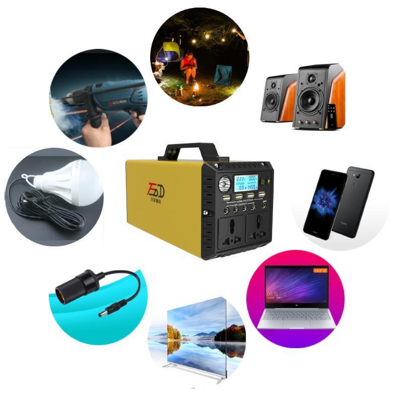 Portable mini free solar energy generator for small home appliance 1