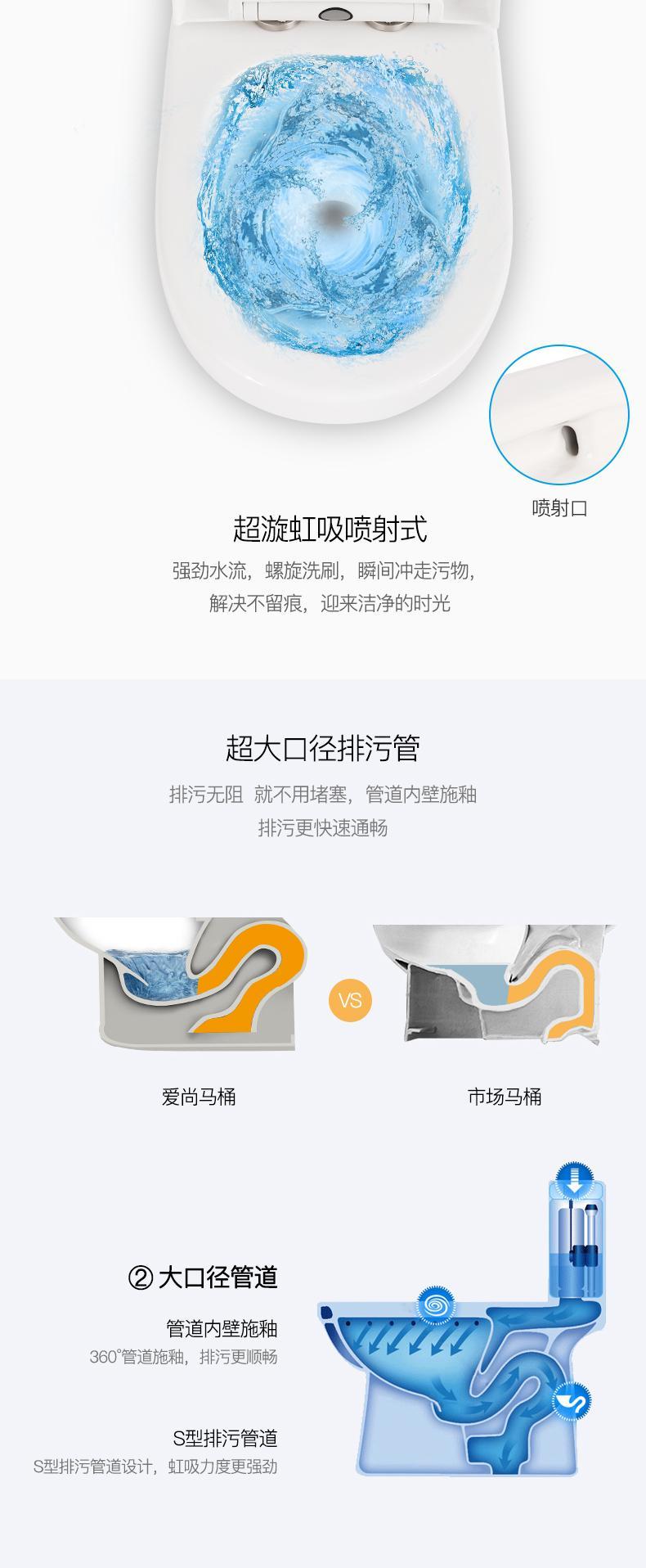 愛尚衛浴廠家直銷靜音節水馬桶 3