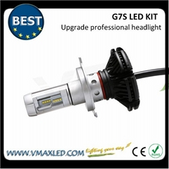 G7S-H4 upgrade High lumen 5000LM Easy Install Aluminum Metal fanless LED Headlam