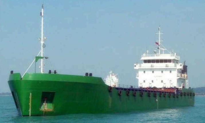 sell used split hopper barge 800cbm 800 cubic bottom open barge 1