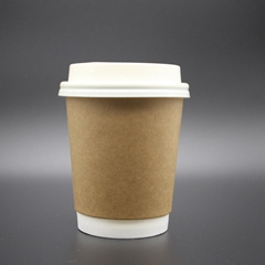 Dispsosable Double Wall Hot  Coffee paper cups 8oz