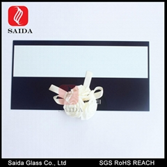 2-3mm tempered silk screen glass front bezel for Touch Panel PC