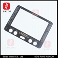 2-3mm tempered silk screen glass front bezel for Touch Panel PC 5