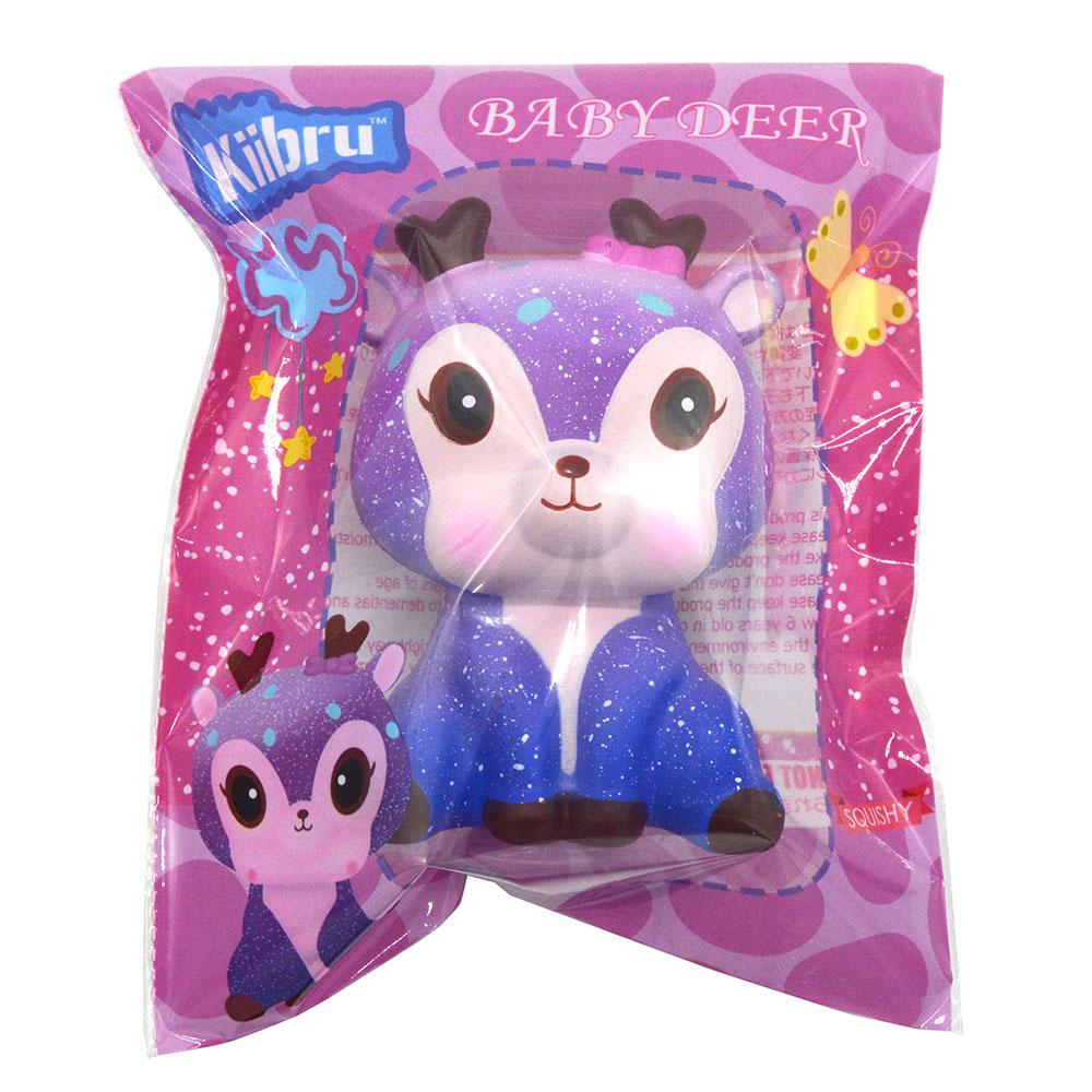 Kiibru PU soft Galaxy Deer squishy toys 5