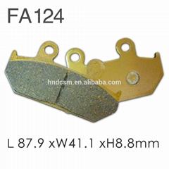 Motorcycle Parts FA124 Professional Ceramic Brake Pads