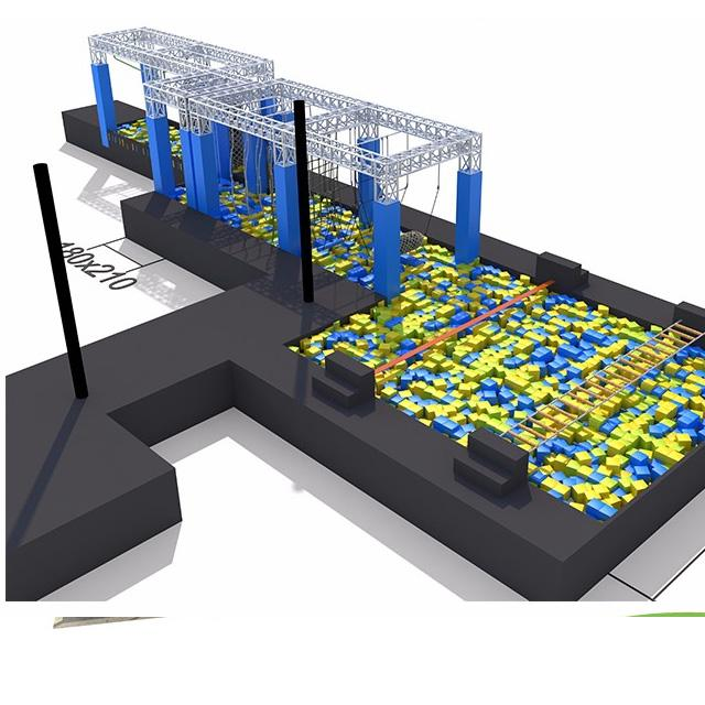commerical indoor playground trampoline park with foam pit and ninja course 4