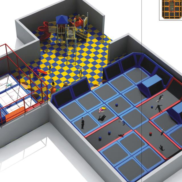 commerical indoor playground trampoline park with foam pit and ninja course 5
