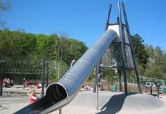牧童定做不鏽鋼造型滑梯非標定製滑梯S型旋轉滑梯