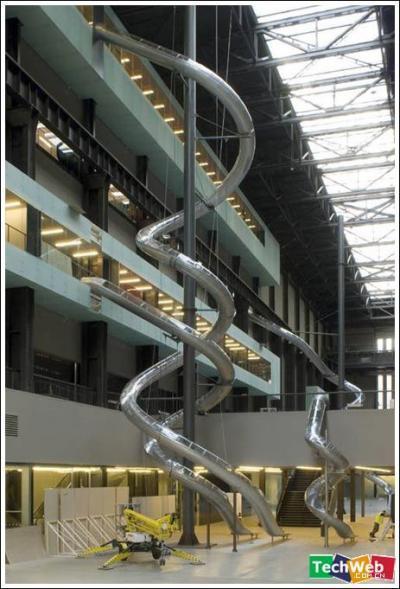 牧童定做不鏽鋼造型滑梯非標定製滑梯S型旋轉滑梯 3