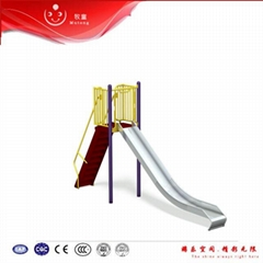 Mutong outdoor playground stainless steel tube slides playhouse