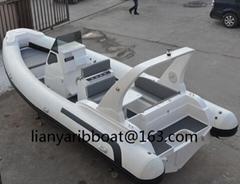 Liya 7.5m luxury yacht boat rib cabin cruiser boats fiberglass fishing