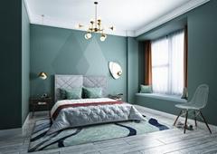 Powder Blue Stripe Carpets For Bedroom&Living room
