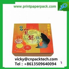 Custom Logo Printed Rigid New Year Gift Box Wine Packaging Cardboard Paper Tea P