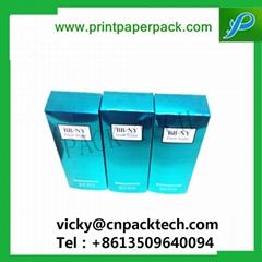 Custom Color Printed Folding Cosmetic Bbcream Perfume Essential Oil Packaging Bo