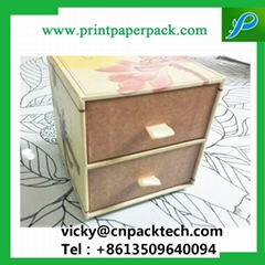 Custom Recyclable Sliding Double Drawer Handmade Jewelry Packaging Paper Box