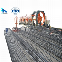 Steel reinforcing bar cage making machine with CE
