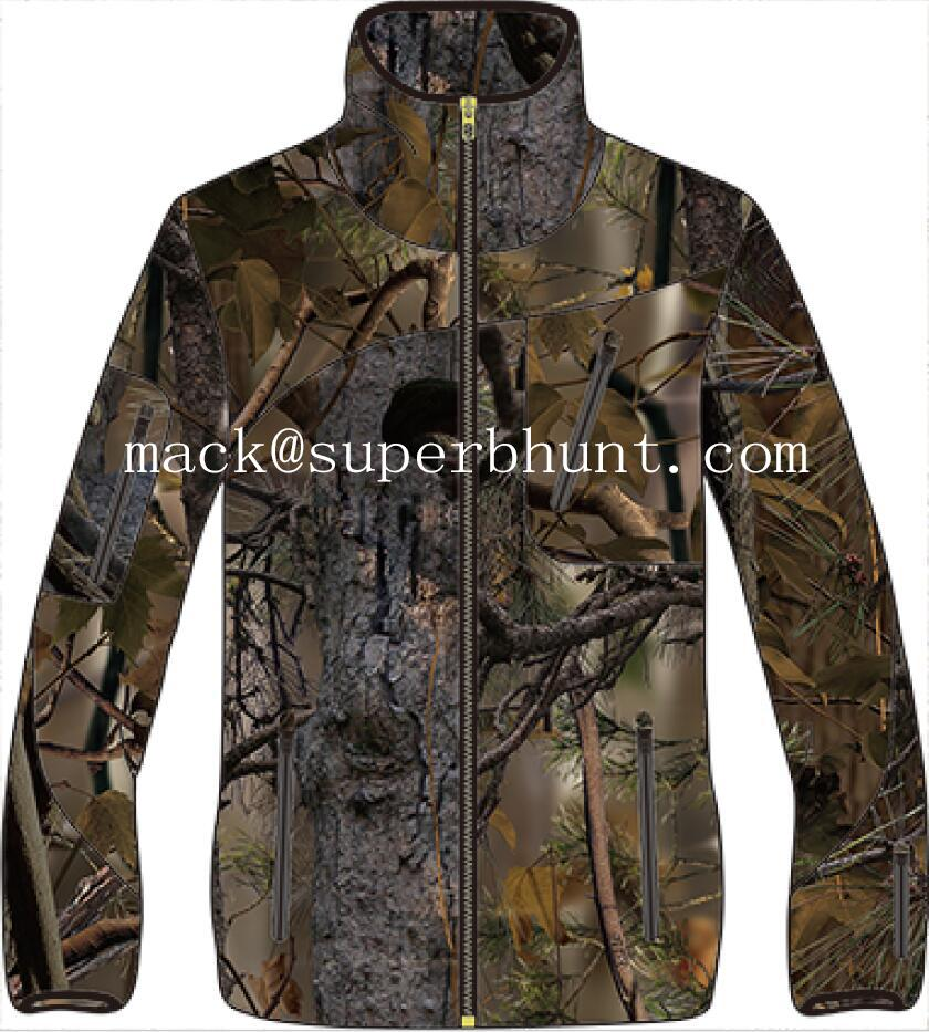 Brown Camo Printed Polyester Tricot for Hunting in Low Royalty Rate 2