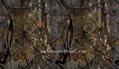 Brown Camo Printed Polyester Tricot for Hunting in Low Royalty Rate 3
