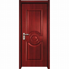 Pre hung white color Molded Panel Interior solid wood Door for residential home