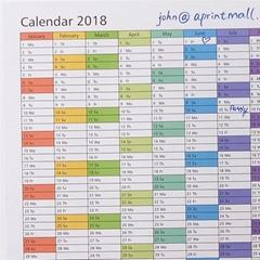 """Custom big size dry erase wall calendar 36""""x48"""" 72""""x48"""""""