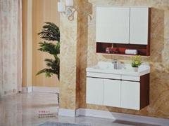 北欧实木浴室柜组合漱台盆