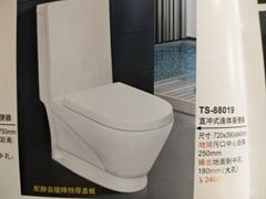 卫浴坐便器AB1118缓降静音马桶节水防臭自洁釉面