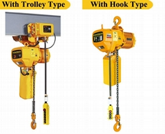 electric chain hoist with trolley type
