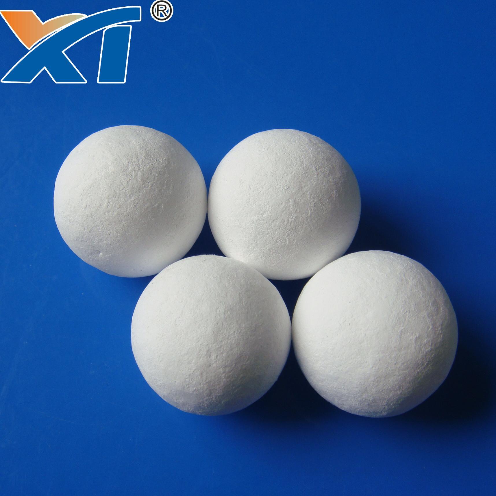 38mm Denstone99 Inert Alumina  Porcelain Ball As Filler Catalyst 3