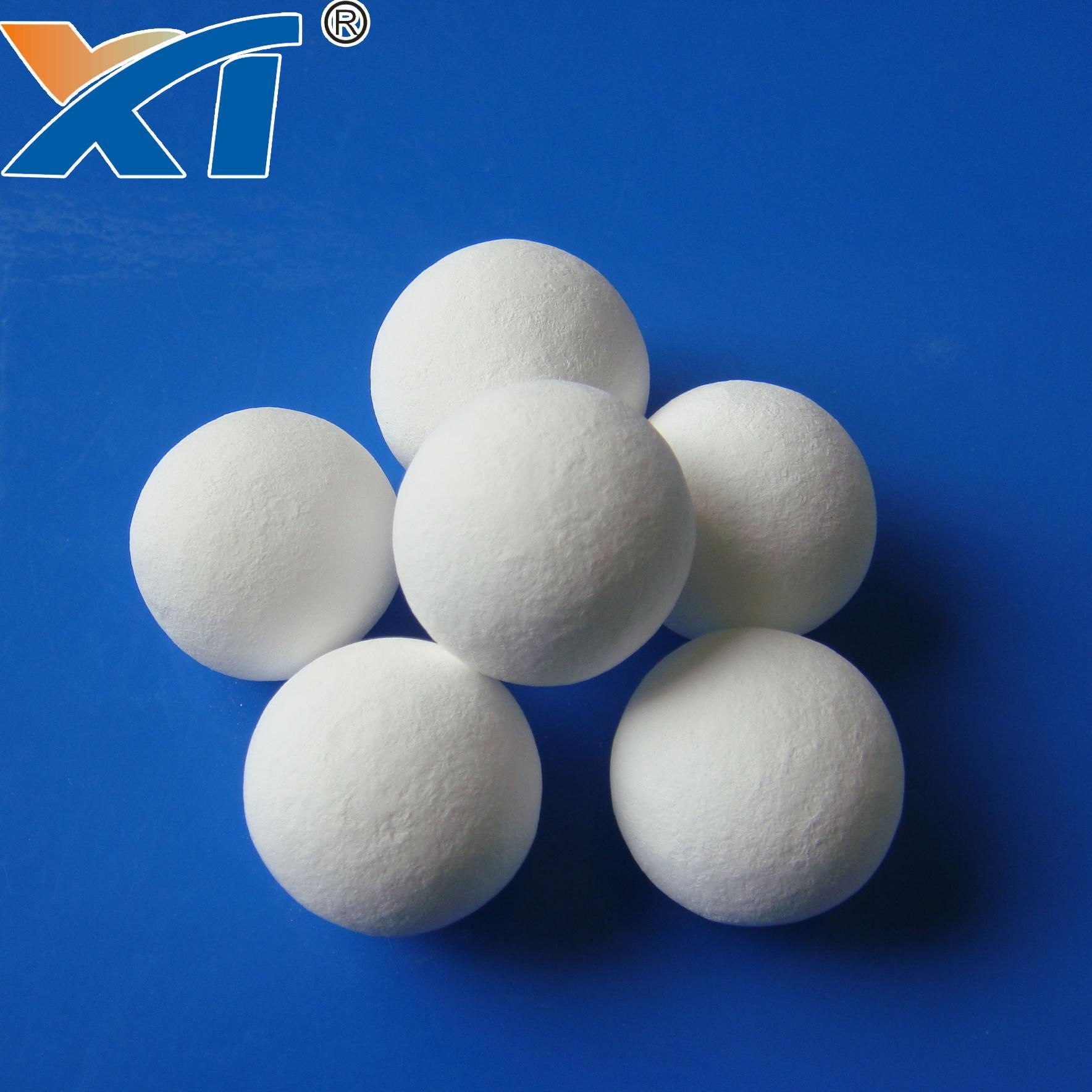 38mm Denstone99 Inert Alumina  Porcelain Ball As Filler Catalyst 5