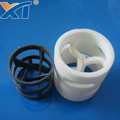PVC PP PVDF Plastic Pall Ring Random Packing for Absorption Tower