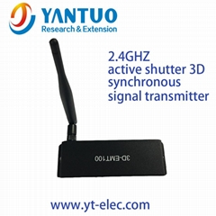 3D SYNC signal emitter use 2.4GhZ RF for active shutter 3D glasses with VESA/BNC