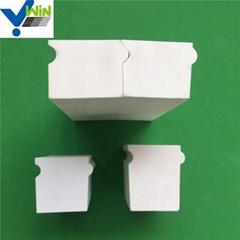 wear resistant  alumina ceramic brick liner for ball mill