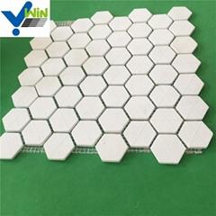 92 % 95 % AL2O3 alumina ceramic mosaic hexgon