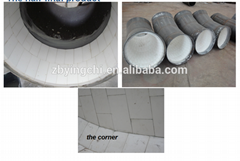 Wear Resistant Alumina Ceramic Lined Bend for Coal Transporting