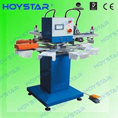 rapid 2 color t shirt label screen printing machine