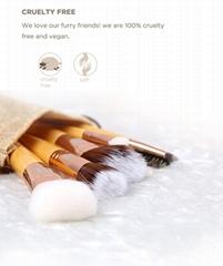 wholesale custom logo glitter bamboo make up brushes kit makeup brush set