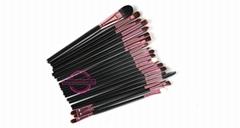 Professional eye makeup 20pcs synthetic hair eye liner eye shadow brush