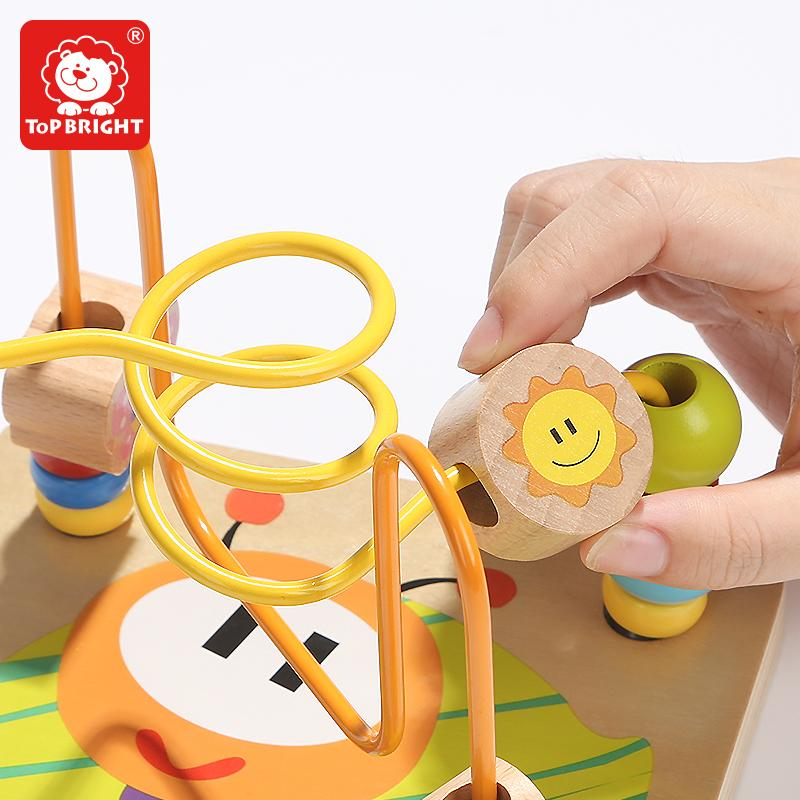 Educational Garden Activity Wooden Cube Math Block Beads Toys with Shape Sorting 4