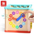 Educational Garden Activity Wooden Cube Math Block Beads Toys with Shape Sorting