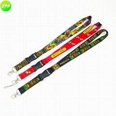 New Products Sublimation Print Lanyard Key Chain ID Badge Holder Jdm Lanyard wit